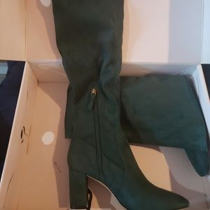 Nine West Shoes - Nine west over the knee emerald green boot